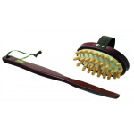 Cellulite Massage Body Brush with Wooden Nodules