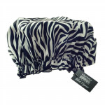 Eco-friendly PEVA Shower Cap Zebra Print Design