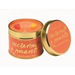 Nectarine & Amaretto Tin Candle