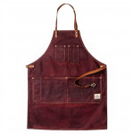 Barber Apron Oxblood Red