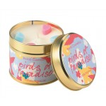 Birds of Paradise Patterned Tin Candle