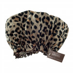 Eco-friendly PEVA Shower Cap Leopard Print Design