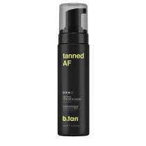 tanned AF self tan mousse
